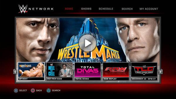 WWE Network PlayStation App