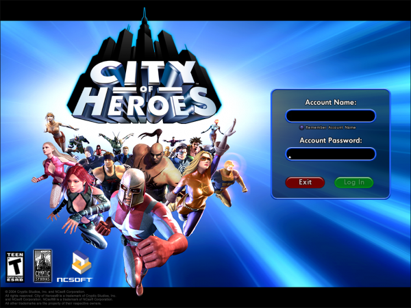 City of Heroes load screen